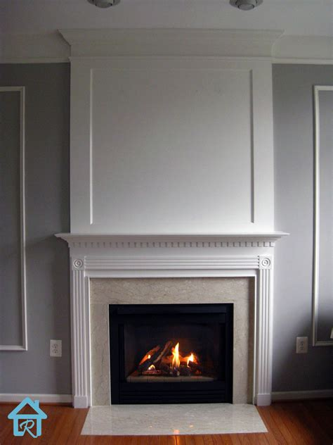Fireplace Trim Ideas by Remodelando La Casa Adding Visual Interest And Height To