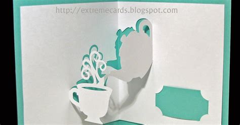 mothers day teapot card template teapot and cup pop up card