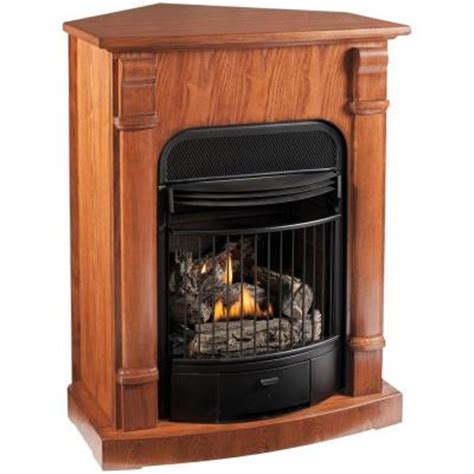 Ventless Gas Fireplace Home Depot by Procom 29 In Convertible Vent Free Propane Gas Fireplace
