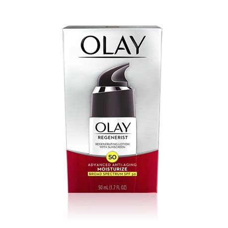 Olay Sunblock Spf 50 regenerist regenerating lotion with sunscreen spf 50