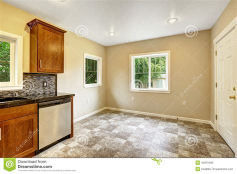 empty kitchen dining area in empty kitchen room stock photo image