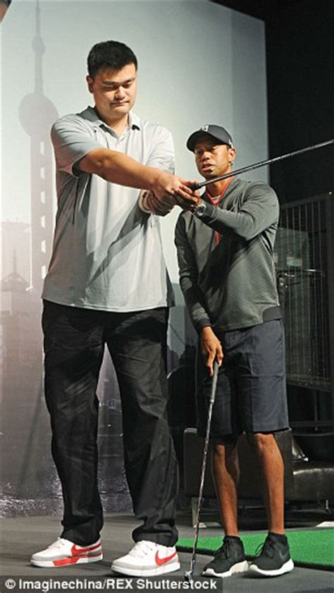golf swing for tall players tiger woods faces tall order in teaching former nba giant