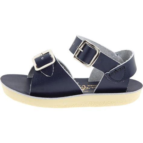 water sandals salt water sandals sun san surfer navy leather sandals