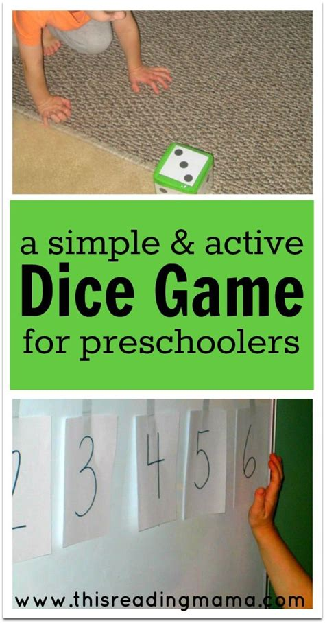 printable dice games for preschoolers a simple and active dice game for preschoolers kids