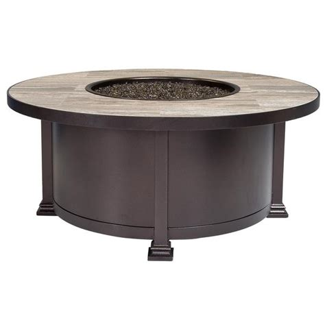 Jacobs Upholstery Spokane Santorini Outdoor Patio 42 Quot Round Occasional Height Fire