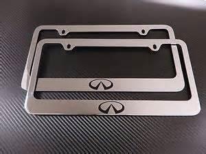 Infiniti License Plate Frame 2 Brand New Infiniti Logo Chromed Metal License Plate