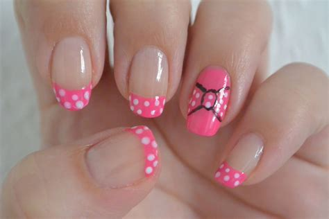 tutorial nail art minnie minnie mouse inspired nail art design tutorial youtube