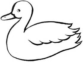 duck template duck outline coloring home