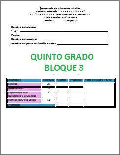 examen de tercer grado de primaria bloque 3 2016 examen quinto grado bloque iii 2017 2018 ciclo escolar