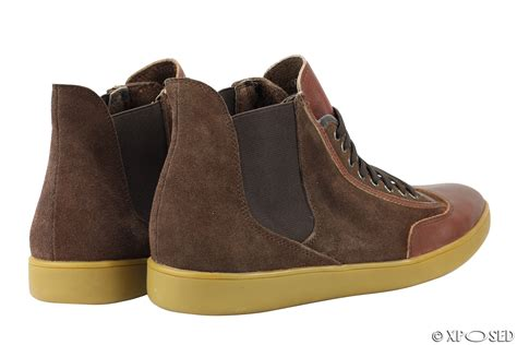 Caterpillar High Suede Darkbrown mens black brown suede leather high top designer style sneaker trainers shoes ebay