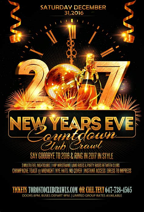 new years eve house music events toronto new years eve club crawl countdown 2017 snapup tickets
