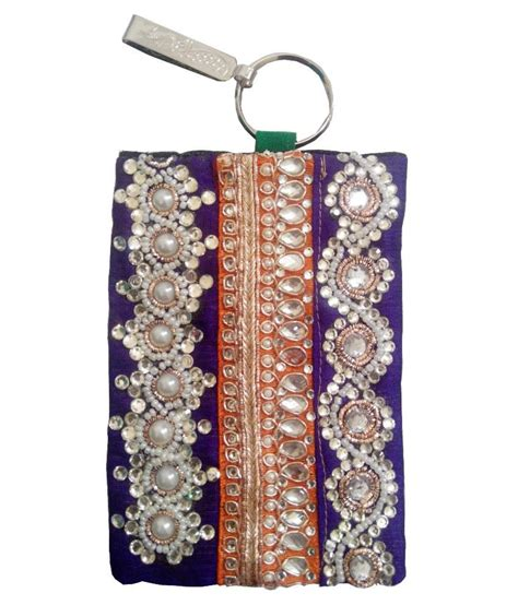 Handmade Mobile Pouch - buy mishti creations multi handmade ethnic smart phone