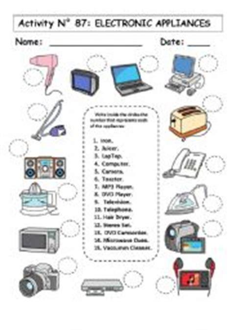 electronic appliances esl worksheet  andresdomingo