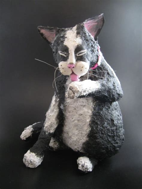 How To Make A Paper Mache Cat - papier mache cats and paper mache on