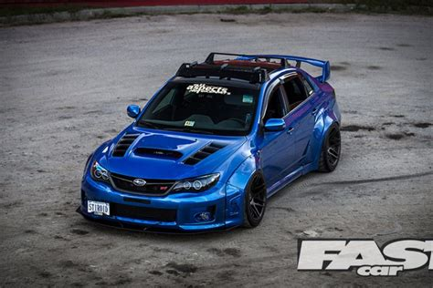 widebody subaru impreza wrx sti fast car