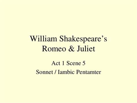 shakespeare iambic pentameter