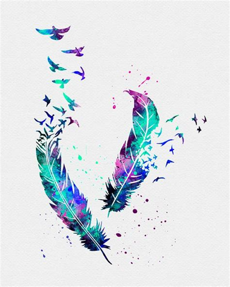 water color feather birds feathers watercolor stuff i want