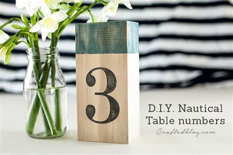 nautical table numbers diy nautical table numbers crafted