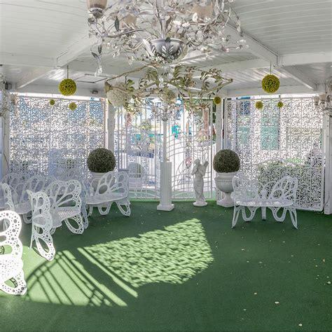 simple gazebo ceremony   white wedding chapel