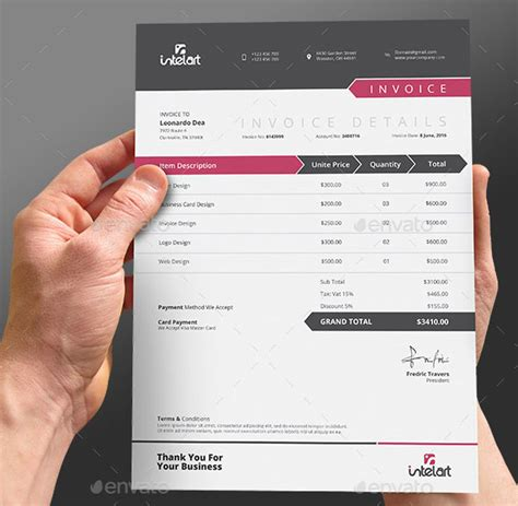 receipt design template psd 37 best psd invoice templates for freelancer web