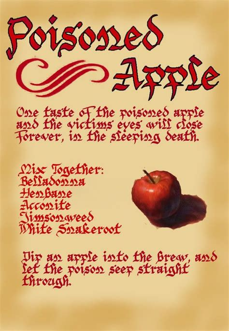 snow white poisoned apple spell courtesy of google image search halloweenie pinterest