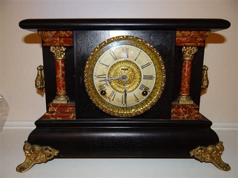 antique e ingraham co wood mantel clock antiques of america and collectibles for sale