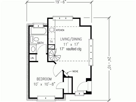 in cottage plans eplans cottage house plan one bedroom