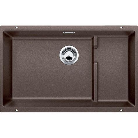 Kitchen Sink Granite Composite Blanco Precis Undermount Granite Composite 32 In 0 Single Basin Kitchen Sink In Cafe