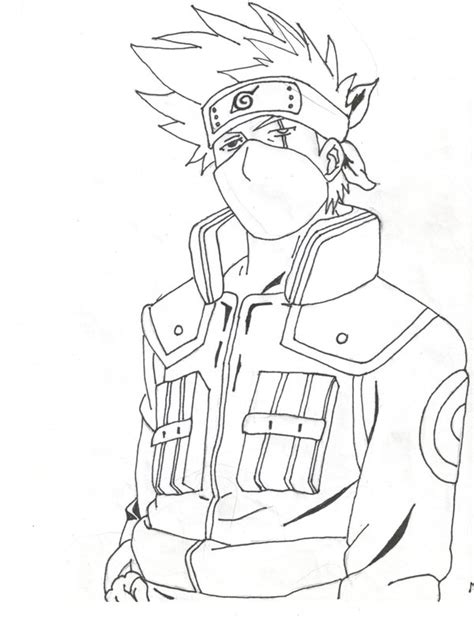 naruto coloring pages kakashi the gallery for gt kakashi coloring pages