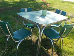 Formica Table And Chairs Vintage Mid Century Chrome Dinette Set