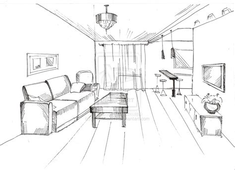 how to draw interior design sketch interior by mimimiaart on deviantart