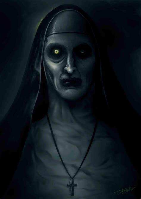 film horor valak artstation valak painting the conjuring 2 jeroen