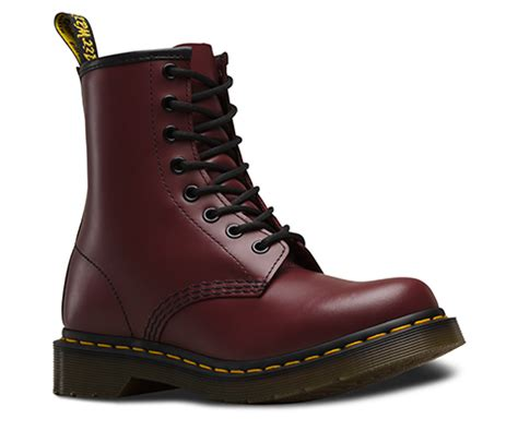 Dr Martens Maroon s 1460 smooth 1460 8 eye boots official dr