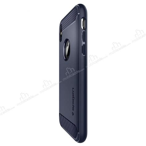 spigen rugged armor iphone x ultra koruma midnight blue kılıf