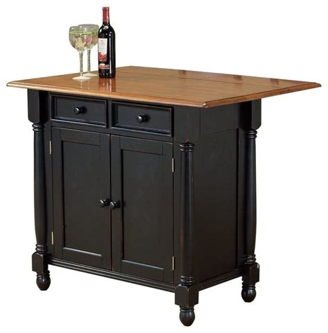 Kitchen Island Cart With Drop Leaf Sunset Trading Drop Leaf Island Antique Black Cherry Modern Kitchen Islands And Kitchen