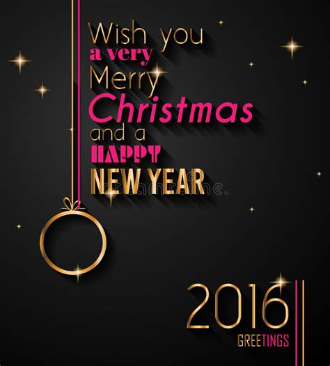 party title for christmas new year 2016 and happy new year flyer stock illustration image 60828087
