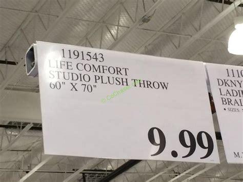 life comfort plush throw costco 1191543 life comfort studio plush throw tag