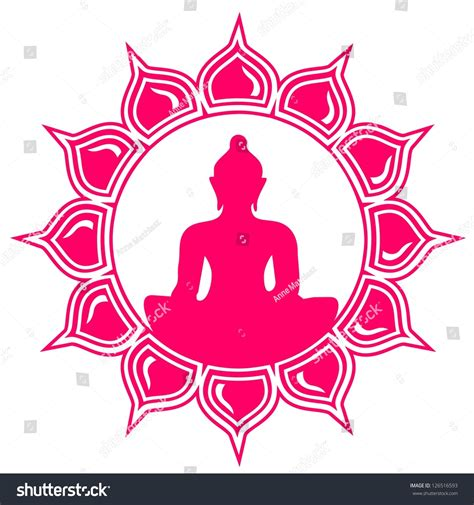 buddhist symbol lotus flower meditation buddha lotus flower symbol enlightenment stock