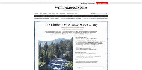 Country Sweepstakes 2014 - williams sonoma the ultimate week in the wine country sweepstakes enjoy a six night