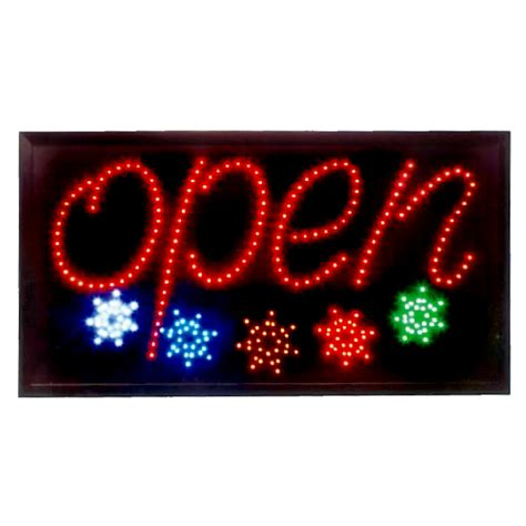Lighted Open Sign by Animated Led Open Sign With Multicolored Led Display