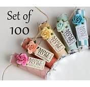 Set Of 100 Mint Wedding Favors With Personalized To
