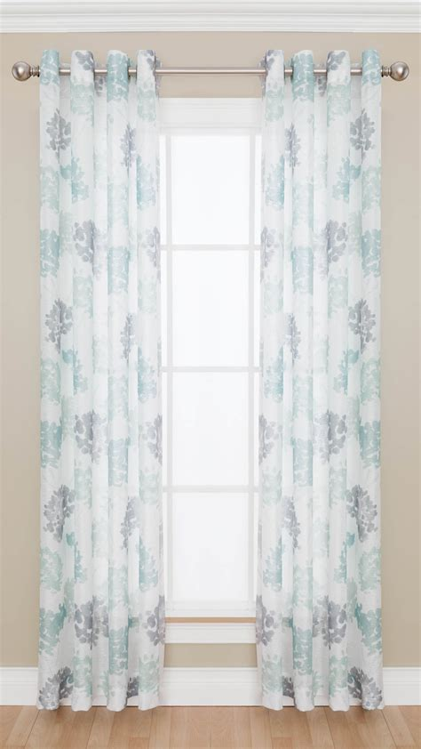 colormate curtains colormate adalia grommet top semi sheer window panel