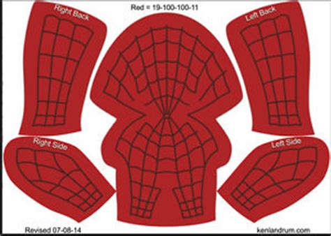 spiderman mask pattern free the amazing spider man 2 mask pattern 3d model