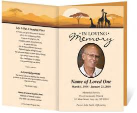 Free Funeral Program Templates by Free Funeral Program Template
