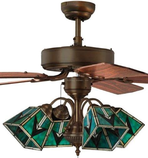ceiling fan with stained glass light tiffany street 269540059 southwestern 4 light stained