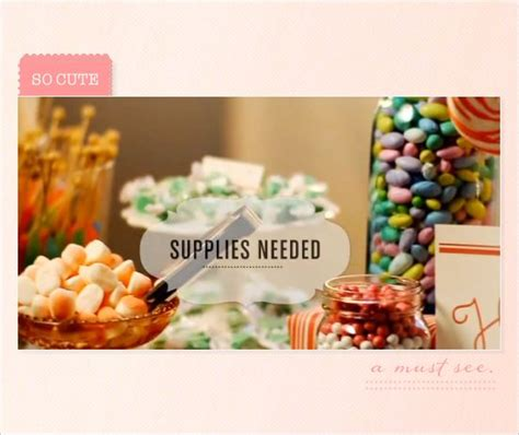 Do It Yourself Candy Buffet Receptions Wedding And Do It Yourself Buffet