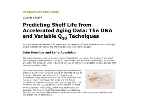 Accelerated Shelf Testing Of Food by D And A Method Slideshare