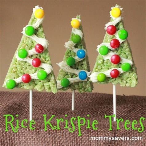 rice krispie trees christmas pinterest