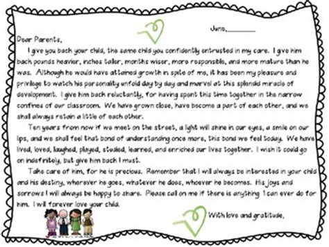 Parent Letter Exles Day Of School Last Day Of School Letter To Parents By Tootsie And Teed Teachers Pay Teachers