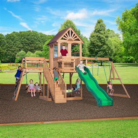 unique backyard play structures 25 unique wooden swing sets ideas on pinterest baby